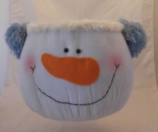 Xlg Snowman Head Basket~Xmas~Display~Plant s~Table Top~Rolls