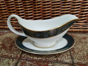 ROYAL DOULTON H5018 CARLYLE GRAVY BOAT & STAND 1ST