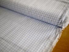 HILCO Vichy Karo 3 mm, Baumwolle,Hemdenstoff,Kleiderstoff, kariert, h'blau-weiß