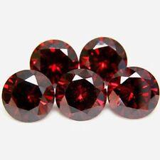 5 PIECES OF 3mm ROUND-FACET DEEP-RED NATURAL MOZAMBIQUE GARNET GEMSTONES
