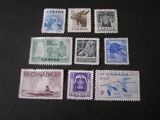 CANADA, SCOTT # 322-324(3)+334+335/336(2)+351+352/353(2),1953-55 ISSUE MNG