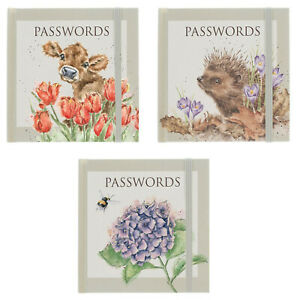 Wrendale Password Book Choice of Illustrated Pocket Sized Designs