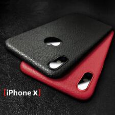De Lujo Cuero de Grano Suave Protectora Funda Carcasa Para iPhone X 7 Plus