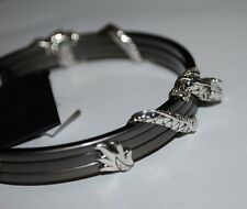 NWT $695 JOHN HARDY STERLING SILVER NAGA DRAGON TRIPLE BANGLE  BRACELET,POUCH
