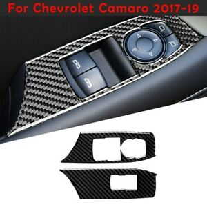 For Chevrolet Camaro 2017-19 Carbon Fiber Lift Switch Decor Trim Cover