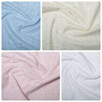 Broderie Anglais Fabric 3 Hole Polycotton Soft Dress Soft Blouse Shirts ANGLAISE