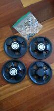 Triumph Spitfire Mk IV 1500 black poly carbonate knave plates hub caps w/springs