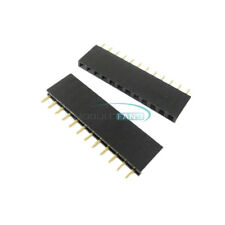 100PCS 2.54mm Pitch 12Pin Header Single Row Female Straight Strip PH: 8.5mm