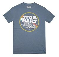 Star Wars Millennium Falcon Circle Flight Navy Heather Men's T-Shirt New