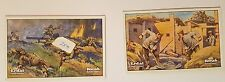 WW1 ERDAL KWAK Cigarette cards. TWO different cards in Fair & fine condition