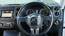 VOLKSWAGEN TIGUAN BLACK LEATHER STEERING WHEEL, 5N, 05/08-08/16