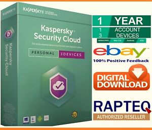 Kaspersky Security Cloud 3 Devices 1 Year PC/Mac/Android UK only