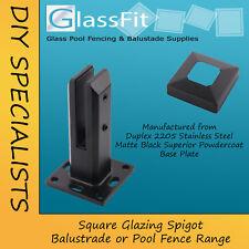Balustrade Pool Glass Spigot Square Stainless Steel Matt Black Duplex 2205