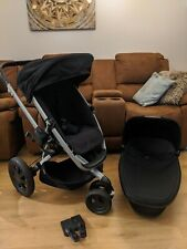 Quinny Buzz 3 Xtra Black Carrycot and Stroller ONLY Travel System