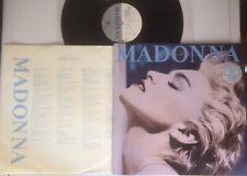 "MADONNA:""TRUE BLUE"".1986 SIRE+LYRICS INNER SLEEVE+STICKERED COVER.EXCELLENT."