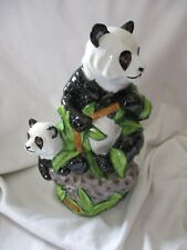 Lynn Chase hand signed large mom panda figurine Retail $425 LE 1998 bamboo baby