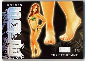 2021 Benchwarmer Gold - Golden Sole Card - Christy Hemme - 2/5