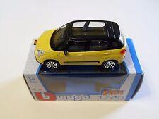 MODELLINO AUTO BURAGO FIAT  500 L TETTO PANORAMICO SCALA 1:43 COLORE GIALLO