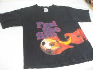 Vintage WORLD TEAM USA 94 T-Shirt XL Youth FUEL THE FIRE Bugle Boy Bold Graphics