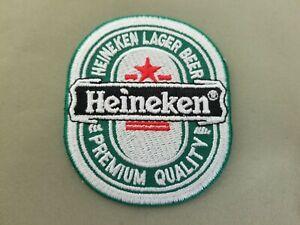 Heineken Beer embroidered iron on patch.