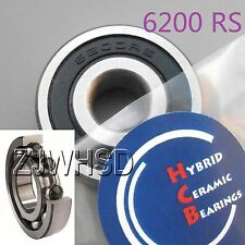 6200 2RS Si3N4 Ceramic Ball Bearing Rubber Sealed Bike Parts 10 x 30 x 9mm