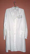 SOLYNDRA PATCHED STYLE 409 UNISEX PROTECTIVE LAB COAT WHITE 2 LOWER POCKETS 2XL