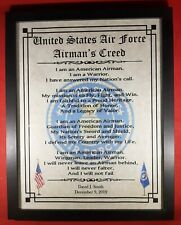 Mc-Nice: Air Force Airman's Creed Framed Personalized