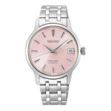 Seiko JAPAN Made Presage Cocktail Pink Ladies' Stainless Steel Watch