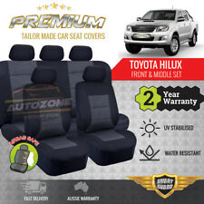 Premium Seat Covers for Toyota Hilux Dual Cab SR5 SR 2ROWs 04/2005 -06/2016