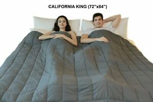 """California King 72"""" x 84"""" Weighted Blanket Sensory Therapy Deep Sleep Relief"""