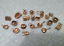 Assorted Copper Miniatures. Pots, Pans, Toaster, Wagon, Radio And More.