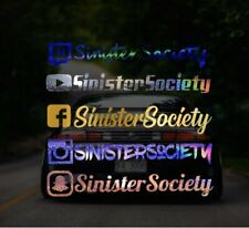 Custom Instagram Username Decal sticker | Social Media Decal | JDM | Euro Drift