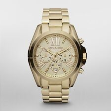 Michael Kors MK5605 Bradshaw Gold Plated dress Chronograph Women's Watch