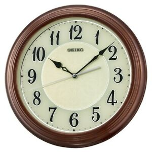 BRAND NEW Seiko Logan Wooden Wall Clock QXA667BLH