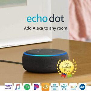 Echo Dot (3rd Gen) - Smart speaker with Alexa - Charcoal - FREE SHIPPING!