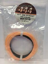 CORTLAND 444 WF7F/S TYPE 1 SLOW SINK TIP ROCKET FLY LINE MSRP $62.00