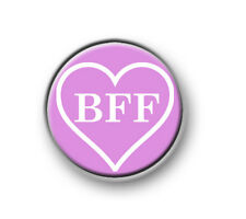 "BFF / 1"" / 25mm / pin button / badge / friends / novelty / funny / love / best"