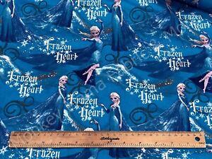 Disney Frozen Heart Elsa Blue Woven Cotton