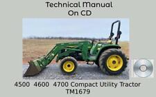 John Deere 4500 4600 4700 Compact Utility Tractor Technical Manual Tm1679