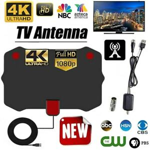 5000 miles of ultra-clear TV antenna 1080P signal amplifier 13 feet cable 4K