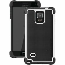 Ballistic Tough Jacket Hex Tec Cover Case for Samsung Galaxy Note 4 -Black/White