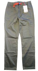 TOPO DESIGNS Mens Climb Cotton Strap Pants Charcoal Gray (MSRP $89)