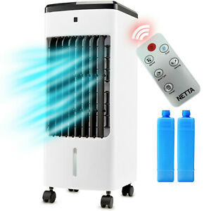 NETTA Portable Oscillating Air Cooler Humidifier 4L Tank Remote Control