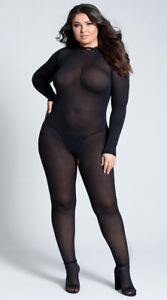 Queen Womens Plus Size Break The Rules Bodystocking