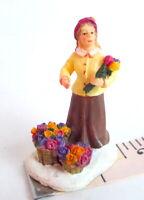 Grandeur Noel Victorian Village Flower Lady Bouquet miniature Christmas 2001