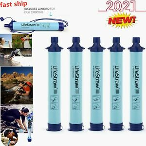 LifeStraw Personal Water Filter for Hiking, Camping, BPA Free, drink directly