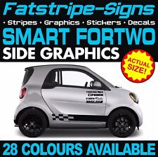 SMART CAR FORTWO GRAPHICS STICKERS STRIPES DECALS COUPE CONVERTABLE BRABUS 1.0