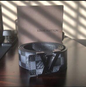 Louis Vuitton Initiales Belt Damier Graphite