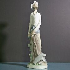 Lladro #4854 Don Quixote Standing Up Glossy Figurine - Salvador Furio 12 in Exc.