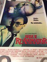 bride of the reanimator rare promo poster excellent minor edge crease